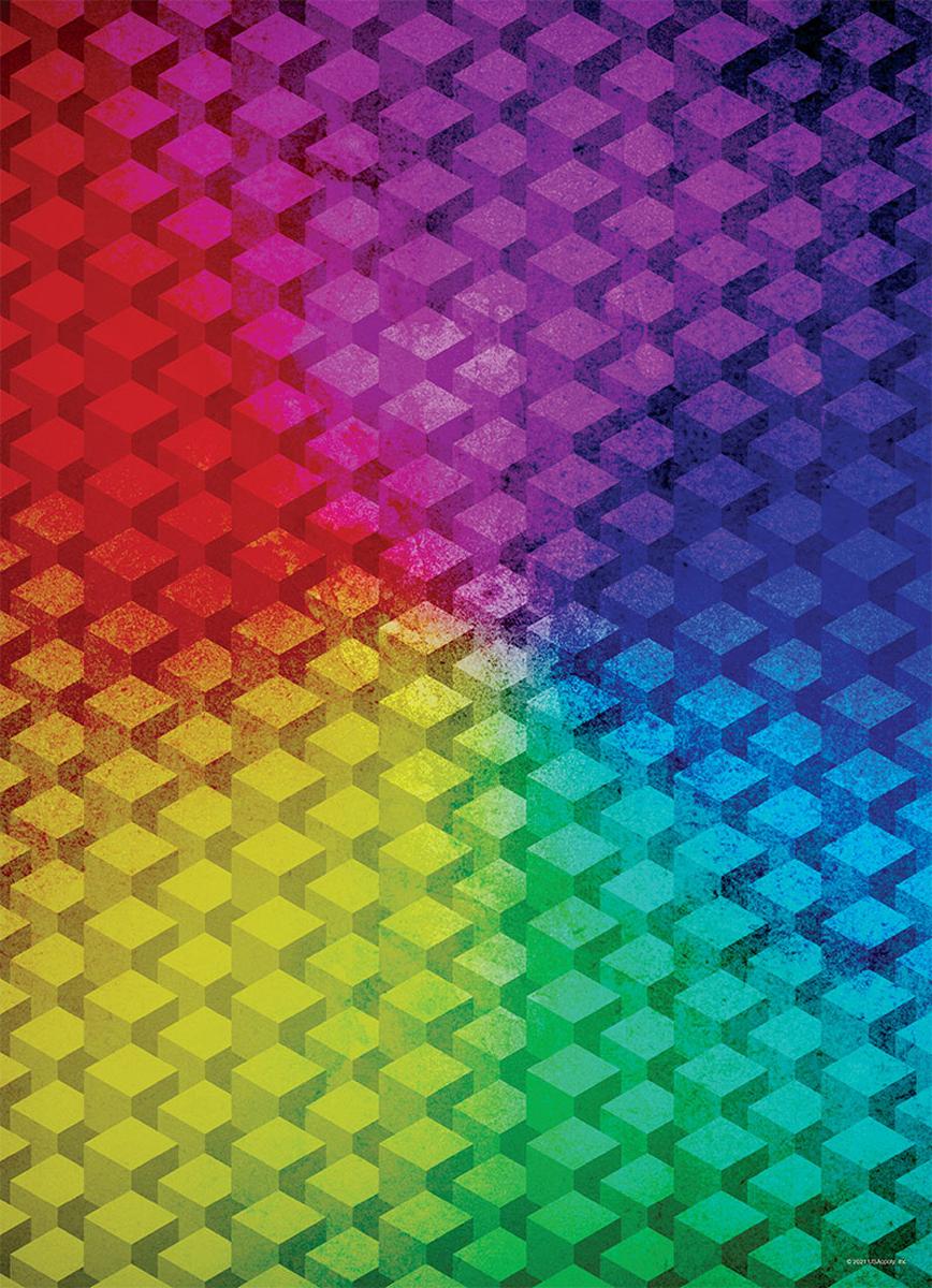 Color Spectrum Gradient Cubes Graphics / Illustration Jigsaw Puzzle