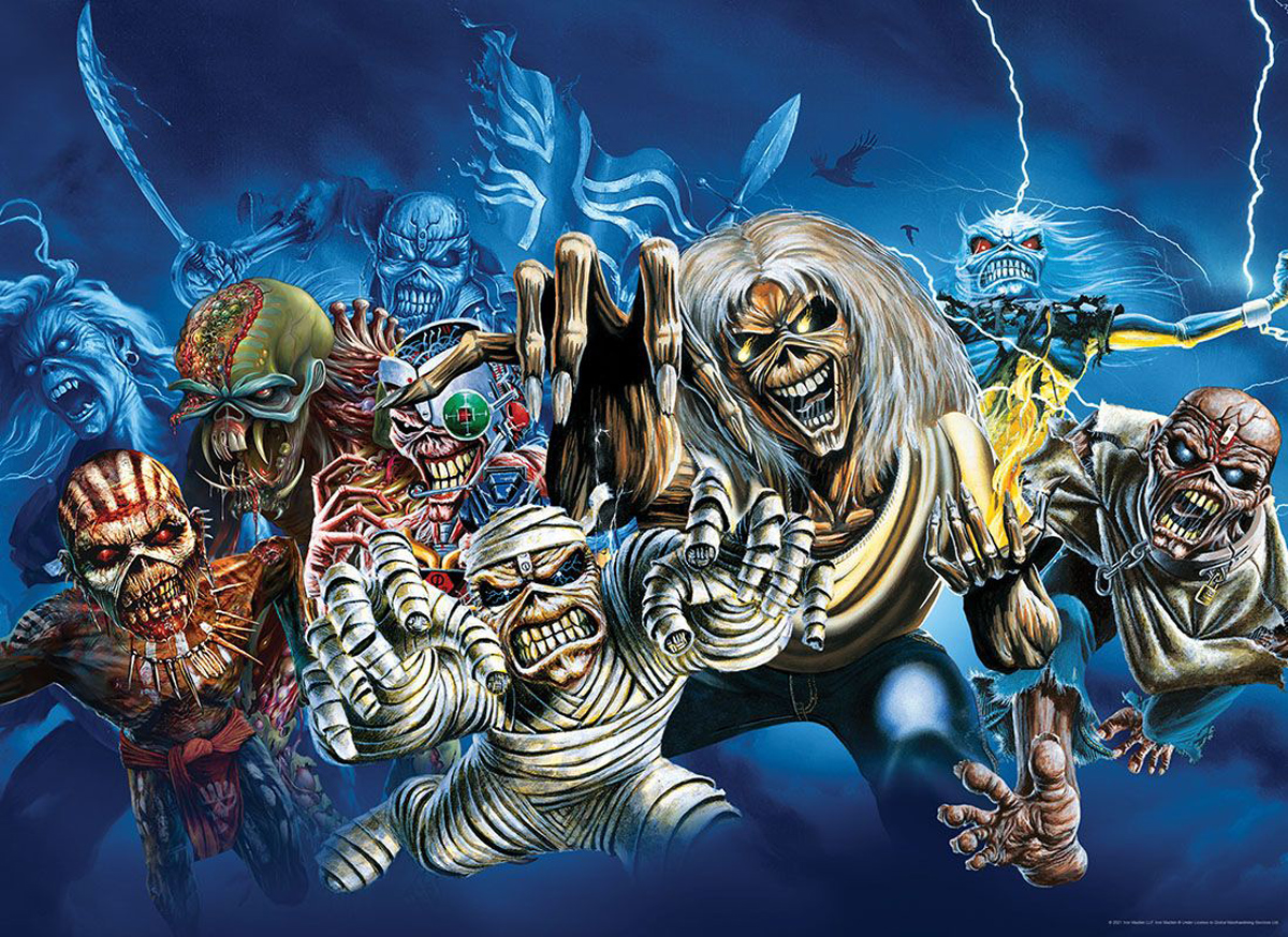 Iron Maiden Faces of Eddie Video Game Jigsaw Puzzle