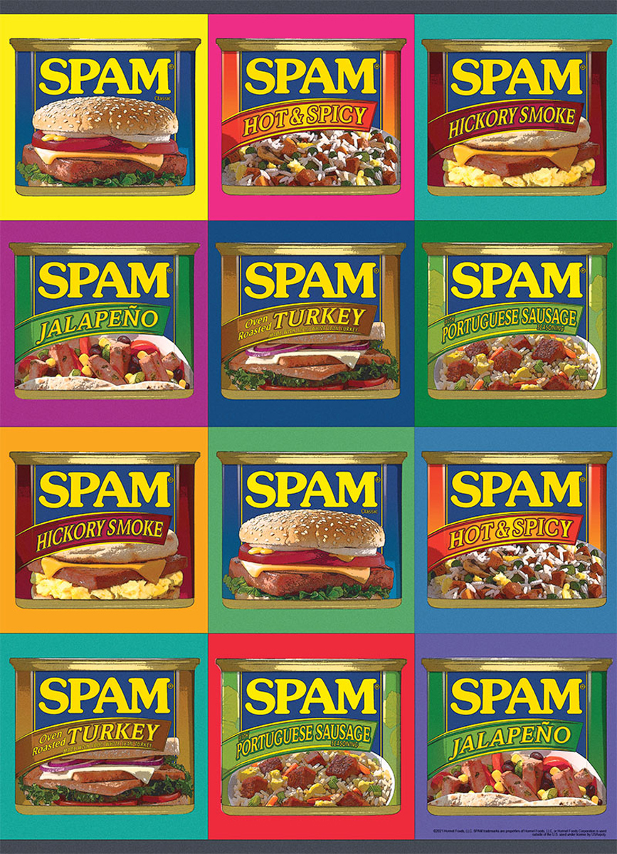 """SPAM™ """"Sizzle. Pork. and Mmm."""" Food and Drink Jigsaw Puzzle"""