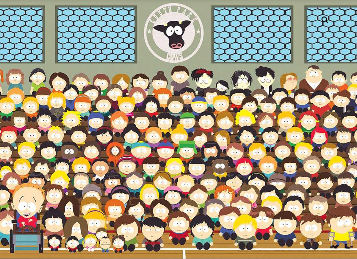 "South Park ""Go Cows"" Cartoons Jigsaw Puzzle"