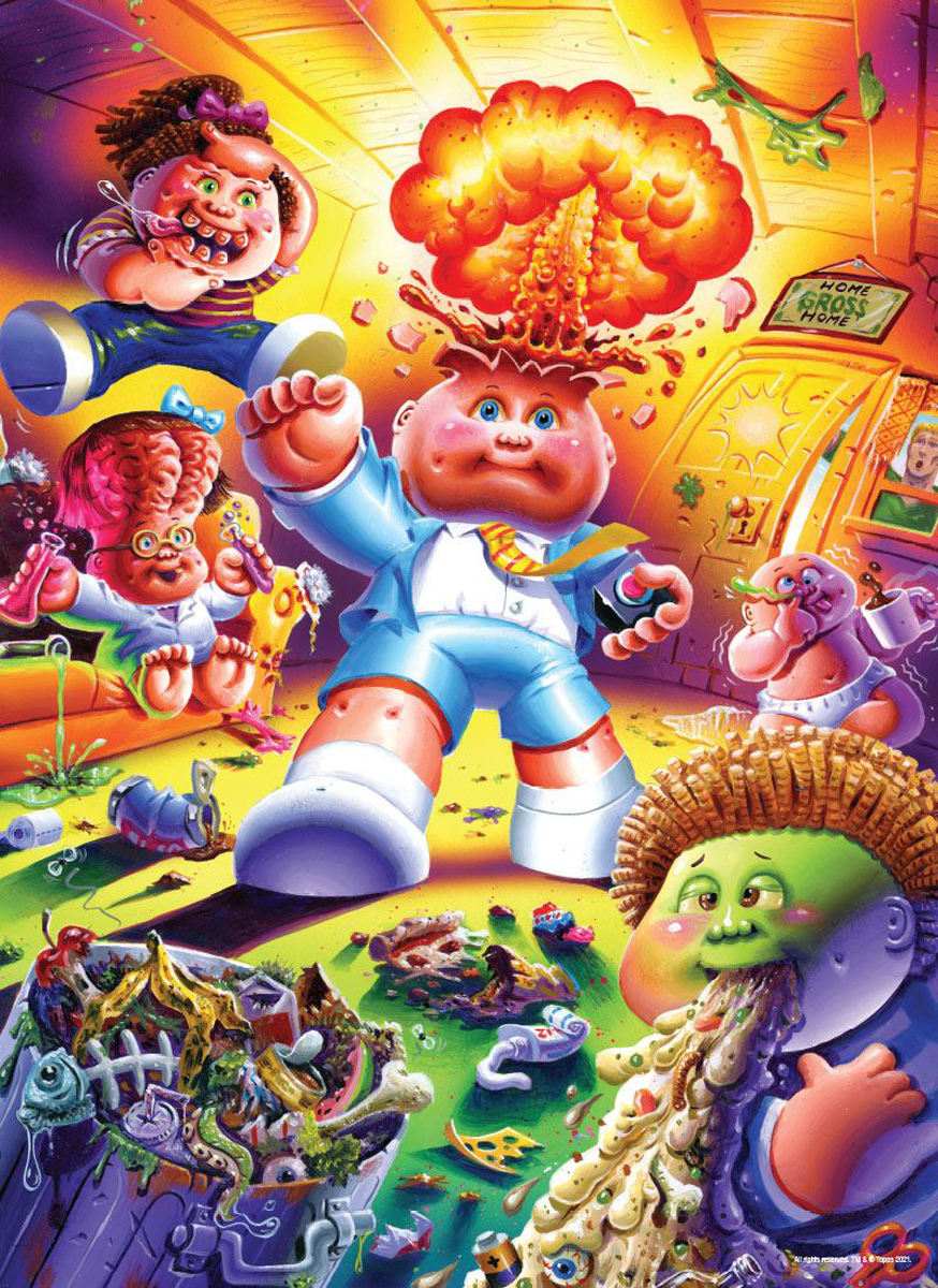 """Garbage Pail Kids """"Home Gross Home"""" Cartoons Jigsaw Puzzle"""