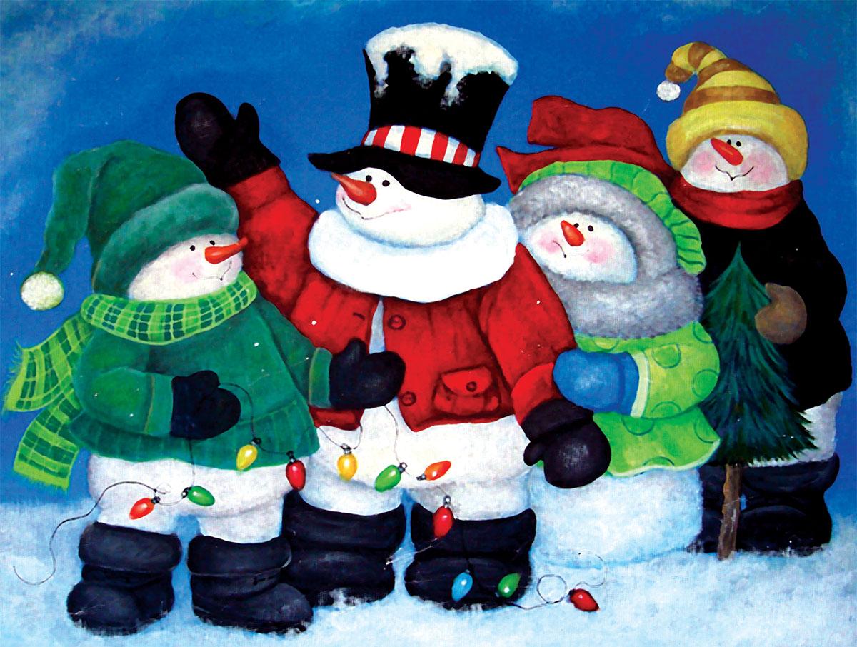 The Light Brigade Snowman Jigsaw Puzzle