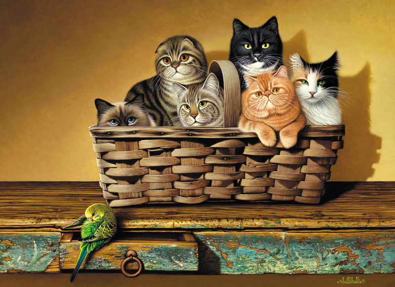 A Bushel and a Peck Cats Jigsaw Puzzle