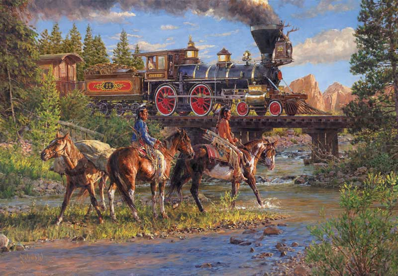 Iron Horse and Indian Ponies Jigsaw Puzzle ...