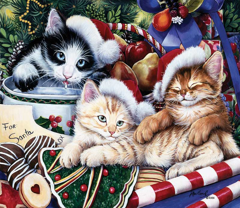 Meowy Christmas Cats Jigsaw Puzzle