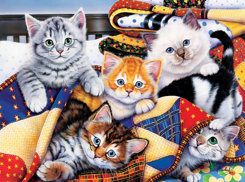 Cozy Kittens Cats Jigsaw Puzzle