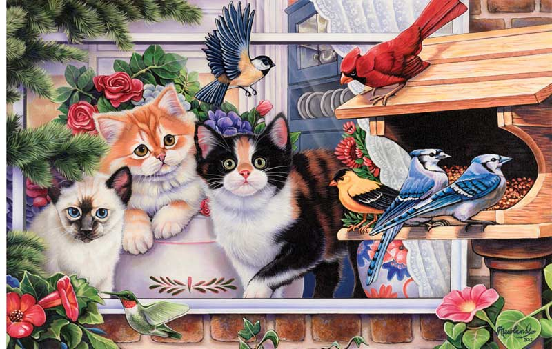 Springtime Wonders Birds Jigsaw Puzzle