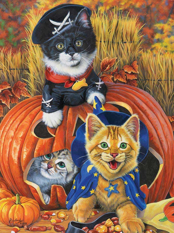 Halloween Kittens Cats Jigsaw Puzzle