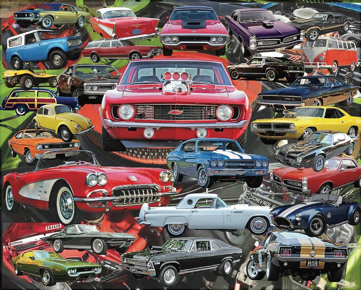 Boomers' Favorite Cars Cars Jigsaw Puzzle