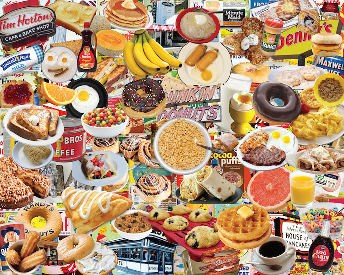 Boomers' Favorite Breakfast Food and Drink Jigsaw Puzzle