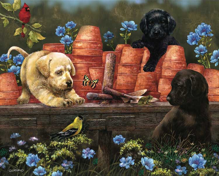 Puppies at Play Dogs Jigsaw Puzzle