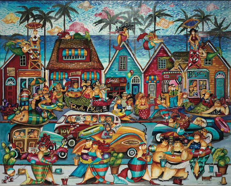 Bathtub Beach Beach Jigsaw Puzzle