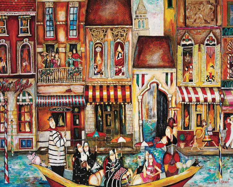 Bad Habits in Venice Italy Jigsaw Puzzle