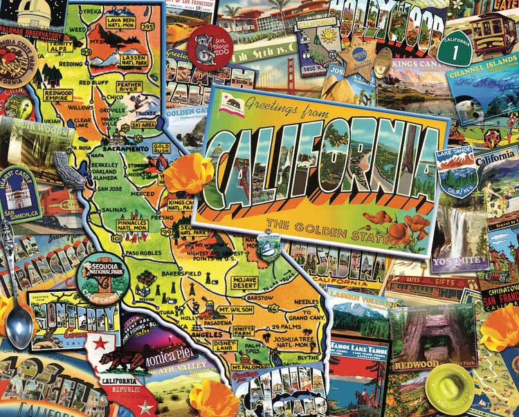 California Dreamin' Collage Jigsaw Puzzle