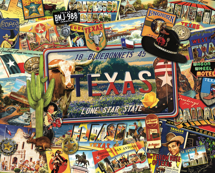 Lone Star State United States Jigsaw Puzzle