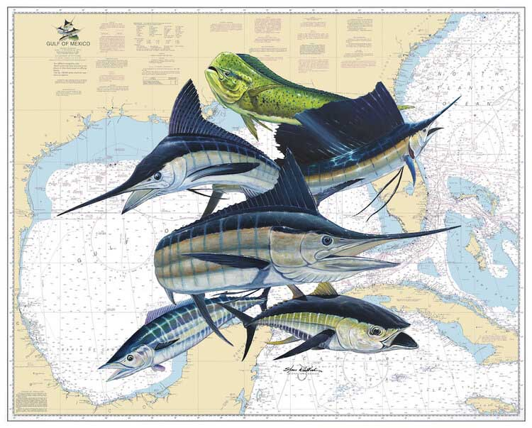 Gulf Slam Inshore Maps / Geography Jigsaw Puzzle