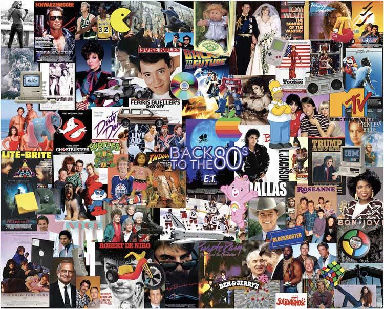 Back to the 80's Nostalgic / Retro Jigsaw Puzzle