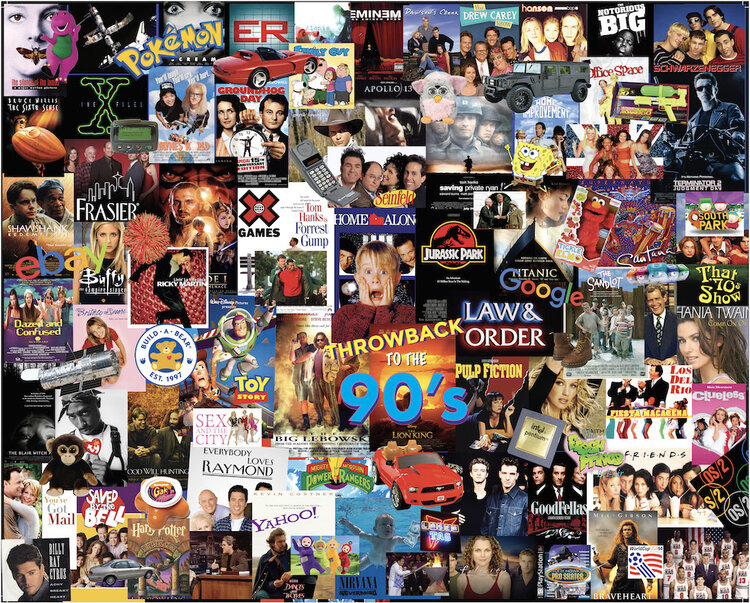 Throwback 90's Movies / Books / TV Jigsaw Puzzle