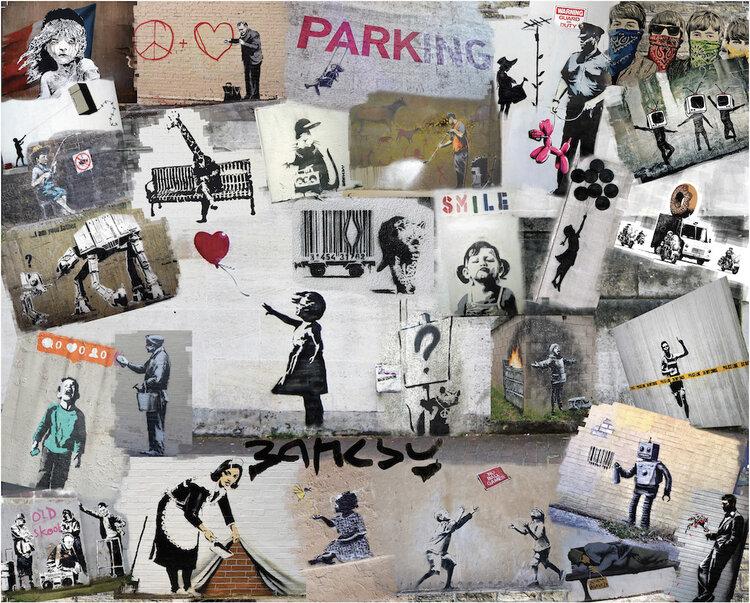 Banksy Graffiti Graphics / Illustration Jigsaw Puzzle