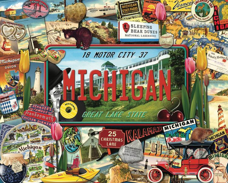 Michigan United States Jigsaw Puzzle