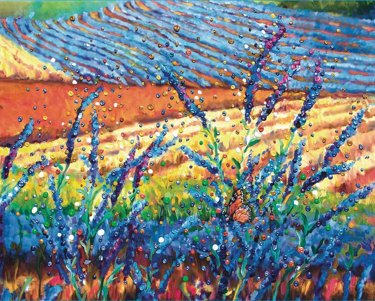 Lavender Fields Flowers Jigsaw Puzzle