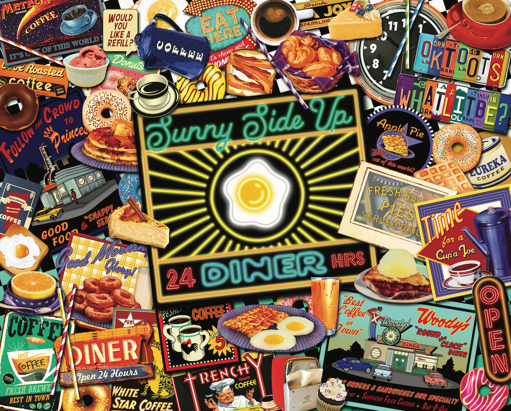 Boomer's Favorite Diners Food and Drink Jigsaw Puzzle