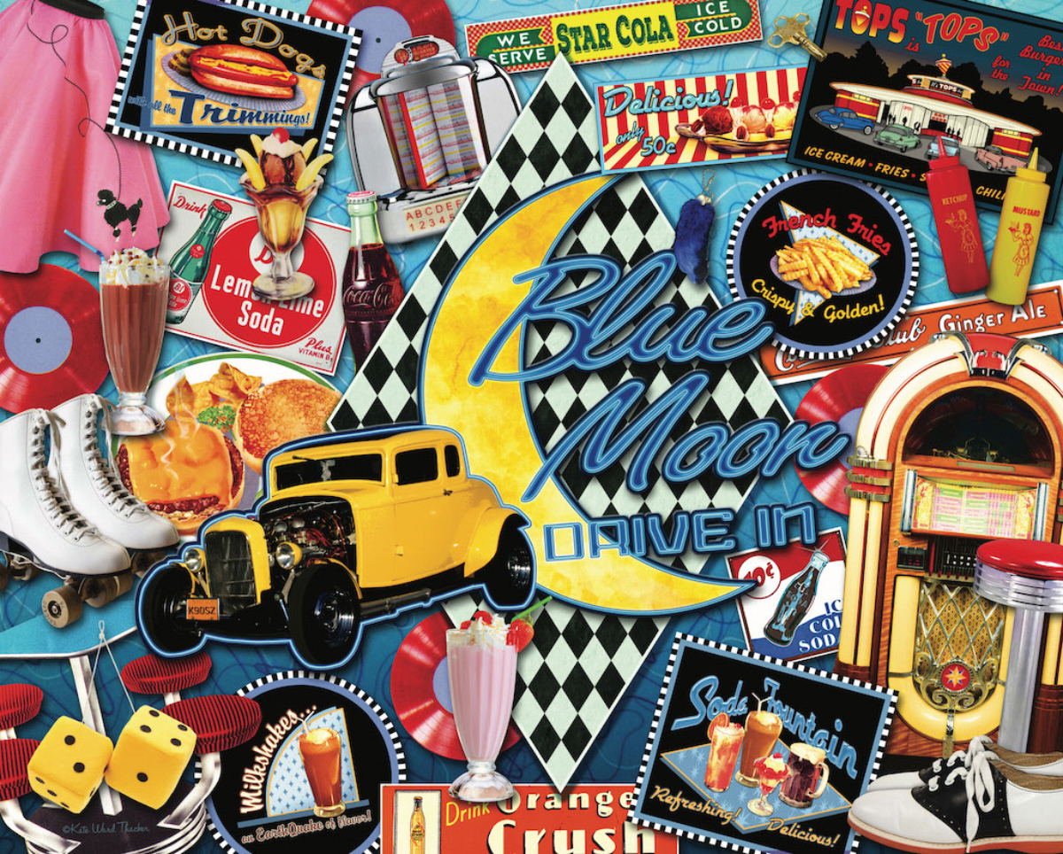 Boomer's Favorite Drive Ins Movies / Books / TV Jigsaw Puzzle
