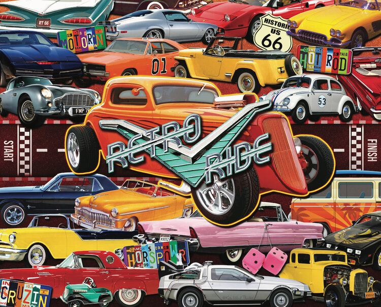 Boomers' Favorite Rides Cars Jigsaw Puzzle