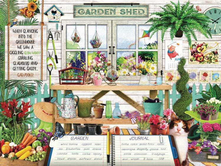 S&F Garden Shed Flowers Hidden Images
