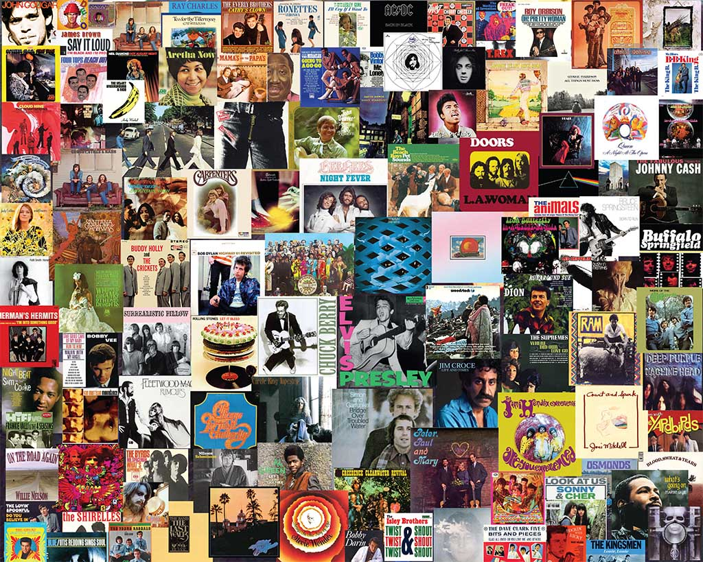Boomers' Favorite Albums Music Jigsaw Puzzle