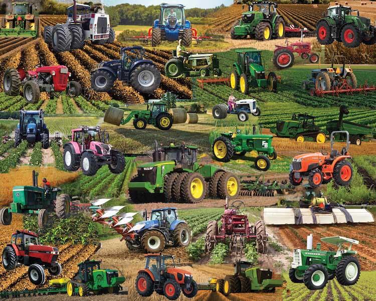 Tractors, Tractors, Tractors Farm Jigsaw Puzzle