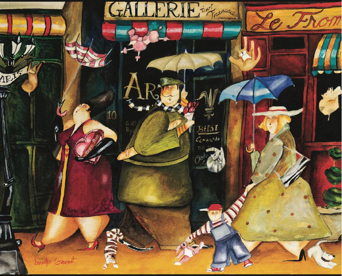 Gallery Rue Royal Street Scene Jigsaw Puzzle