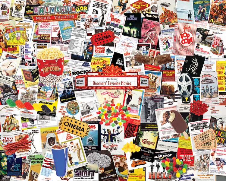 Boomers' Favorite Movies Movies / Books / TV Jigsaw Puzzle