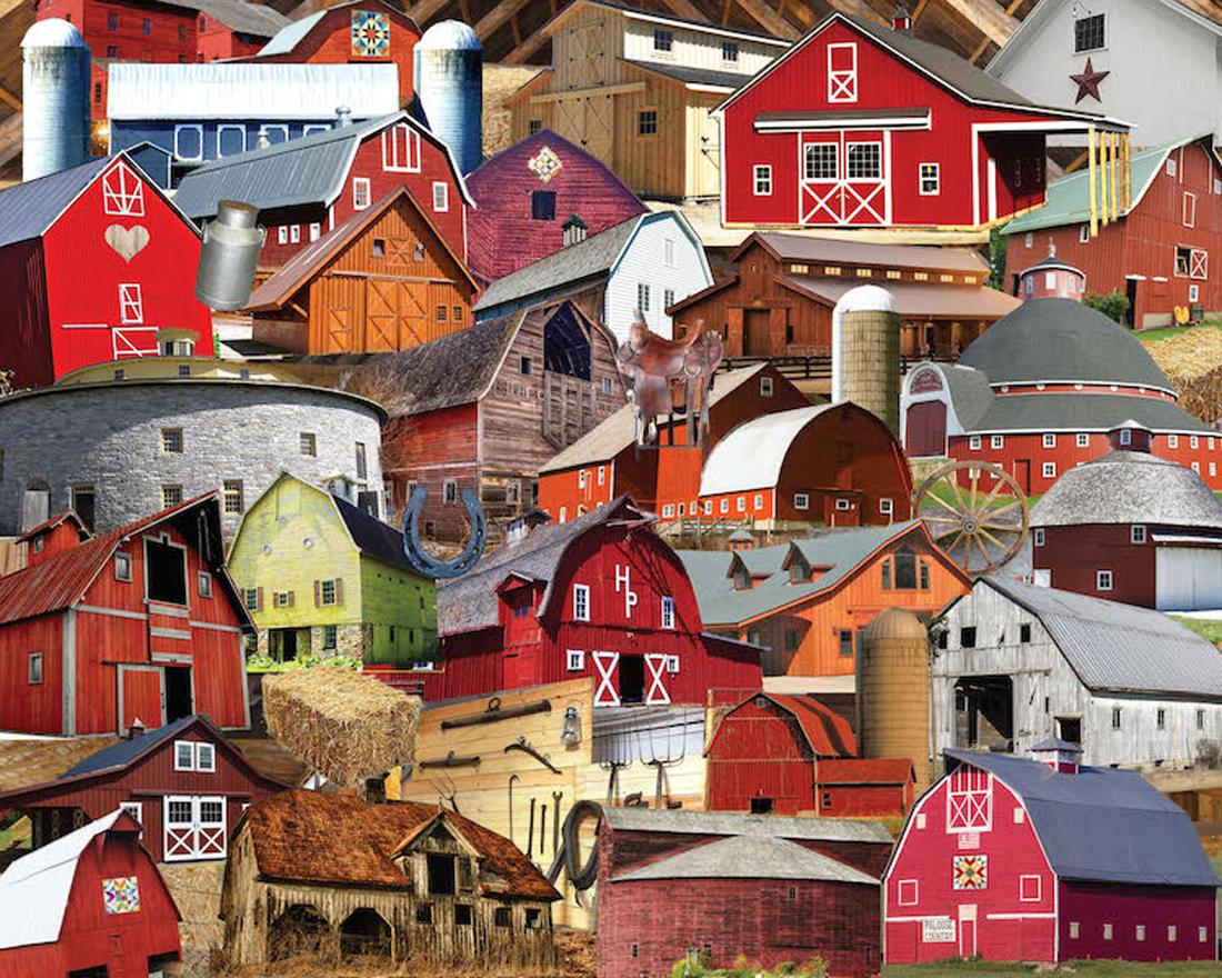 Barns, Barns, Barns Farm Jigsaw Puzzle