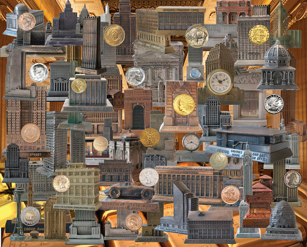 Banks, Banks, Banks Everyday Objects Jigsaw Puzzle