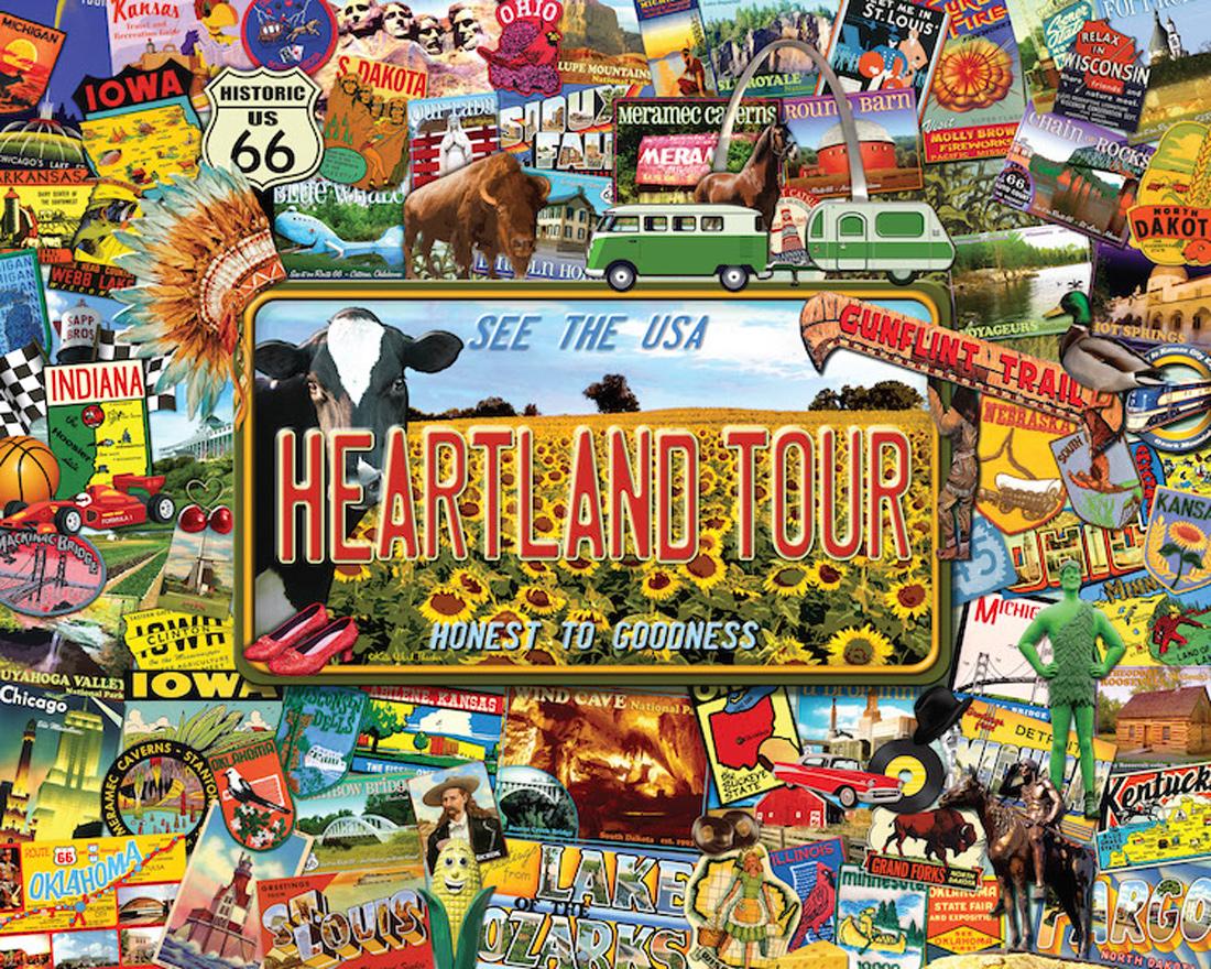 Heartland Tour United States Jigsaw Puzzle