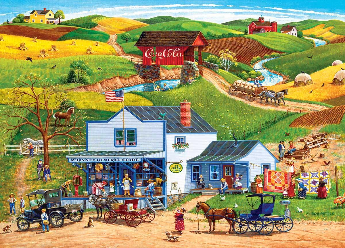 McGiveny's Country Store Farm Jigsaw Puzzle