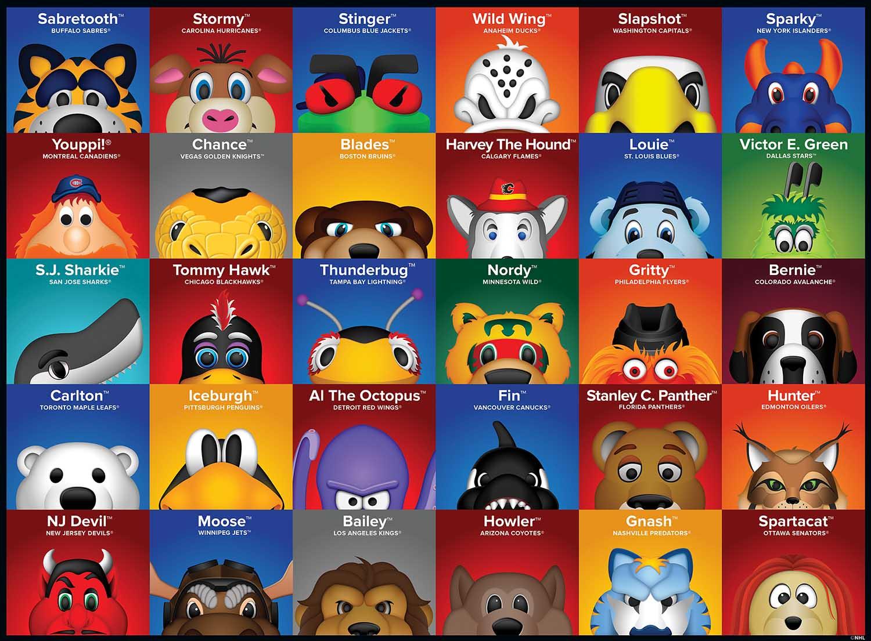 NHL Mascots Sports Jigsaw Puzzle