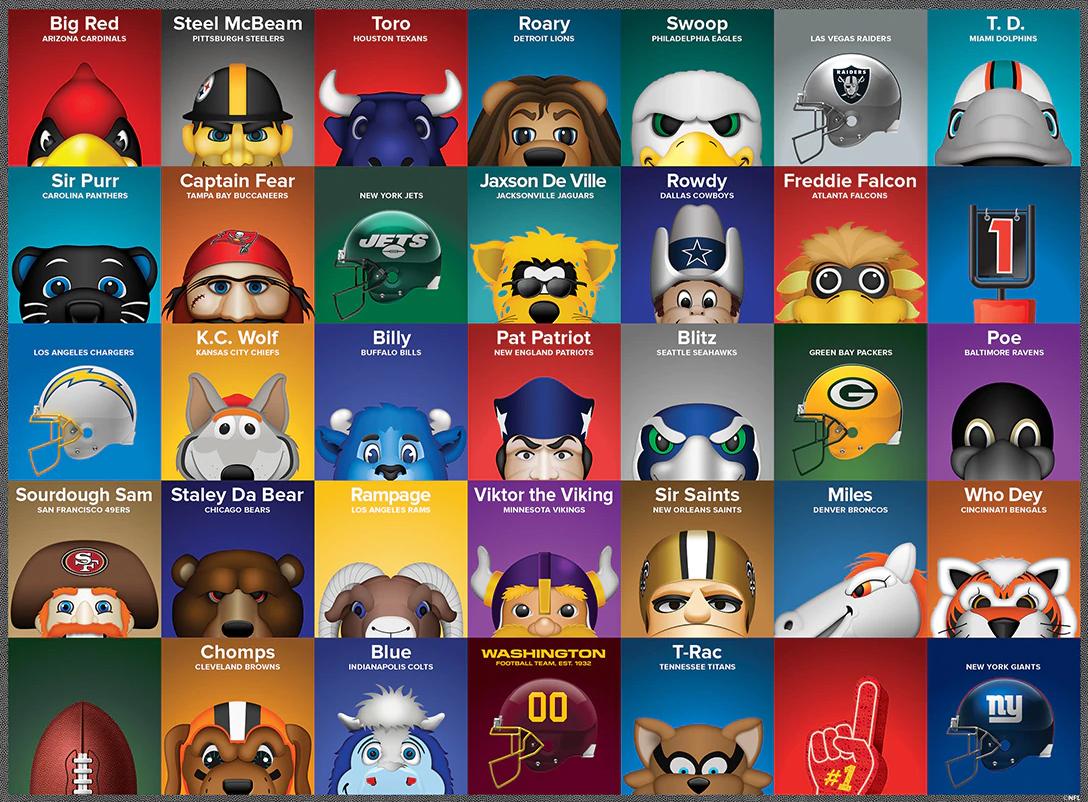 NFL Mascots Sports Jigsaw Puzzle