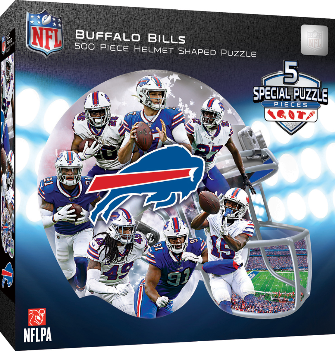 Buffalo Bills Football Shaped Puzzle