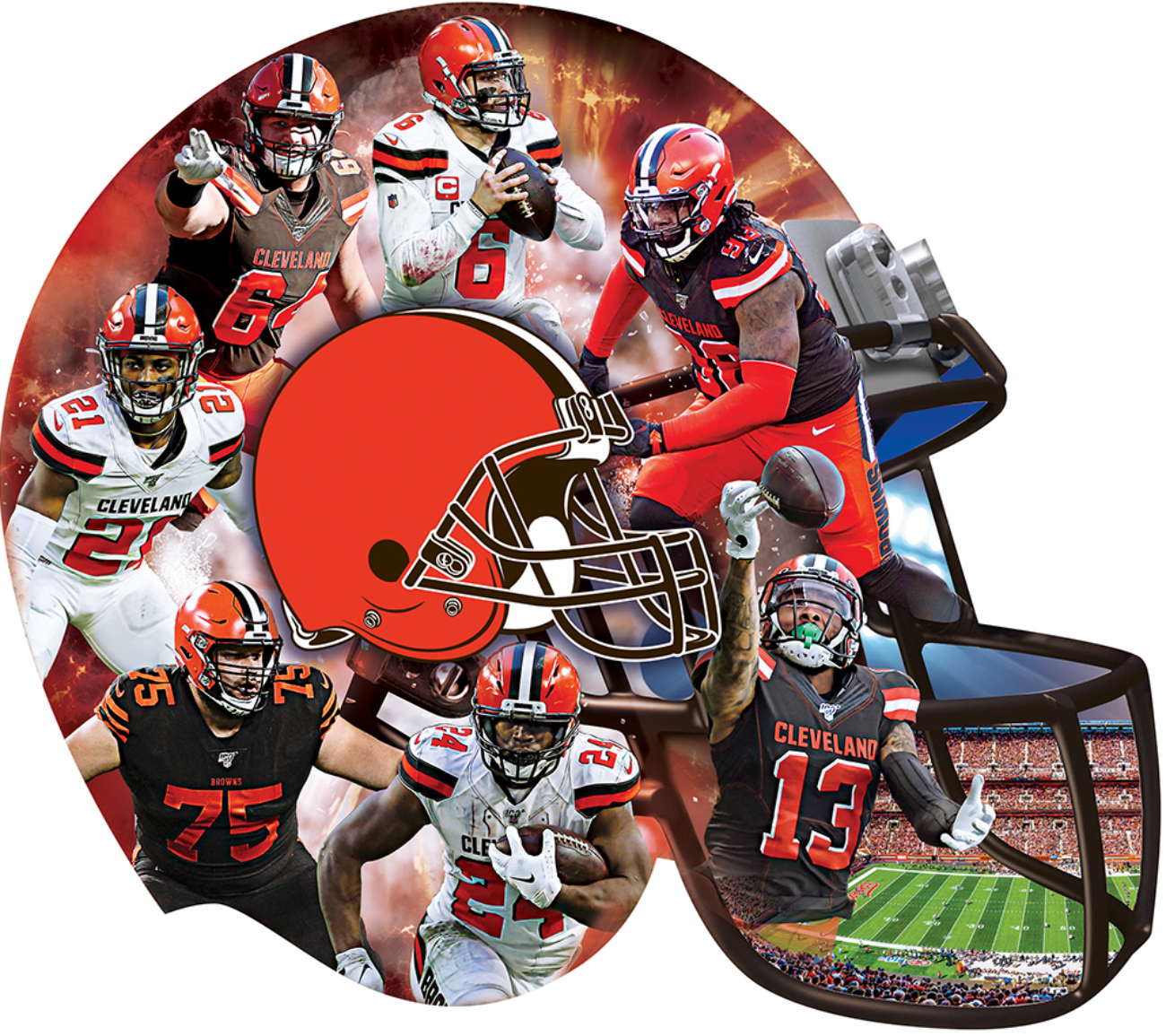 Cleveland Browns Sports Shaped Puzzle