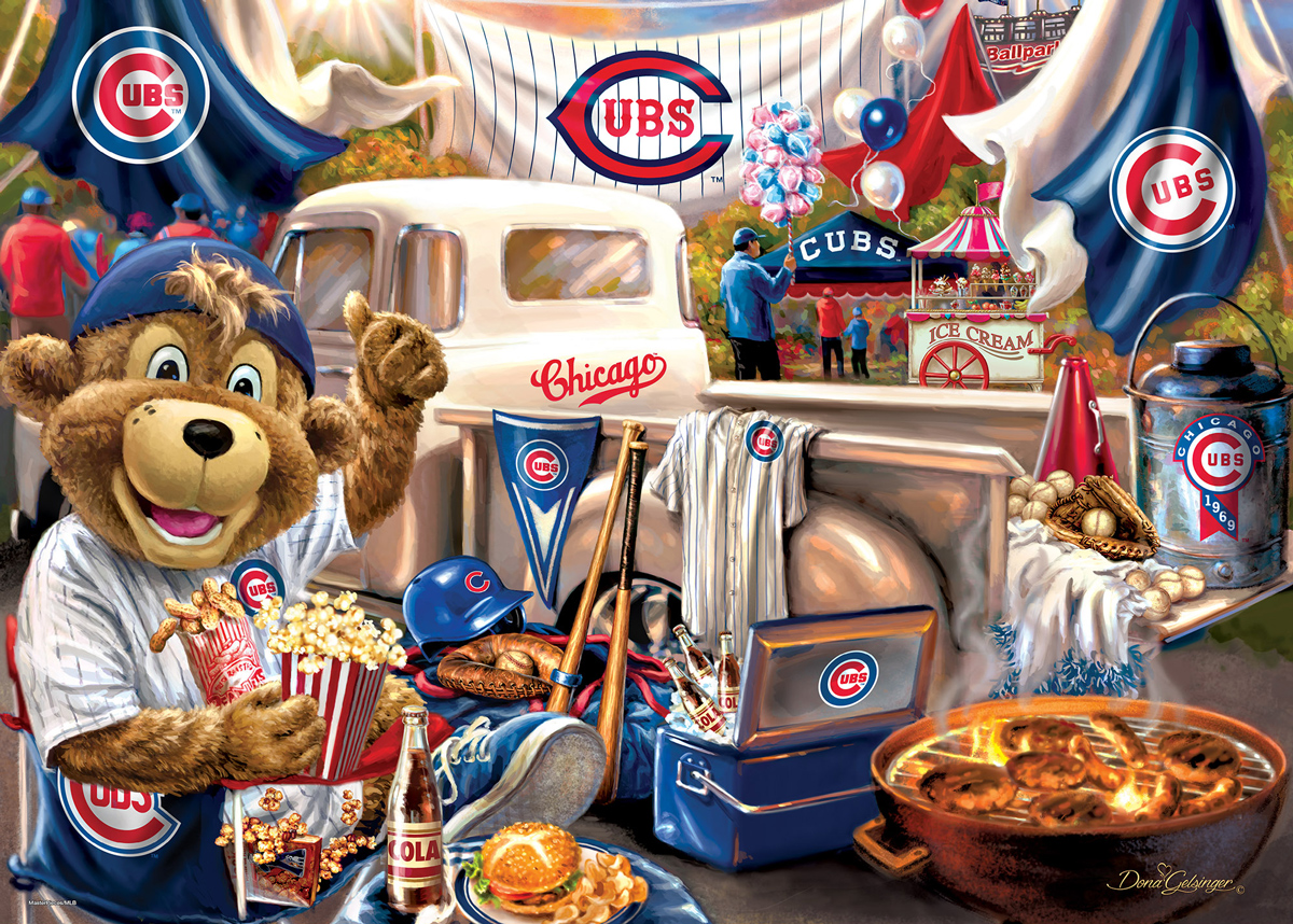 Chicago Cubs Gameday Sports Jigsaw Puzzle