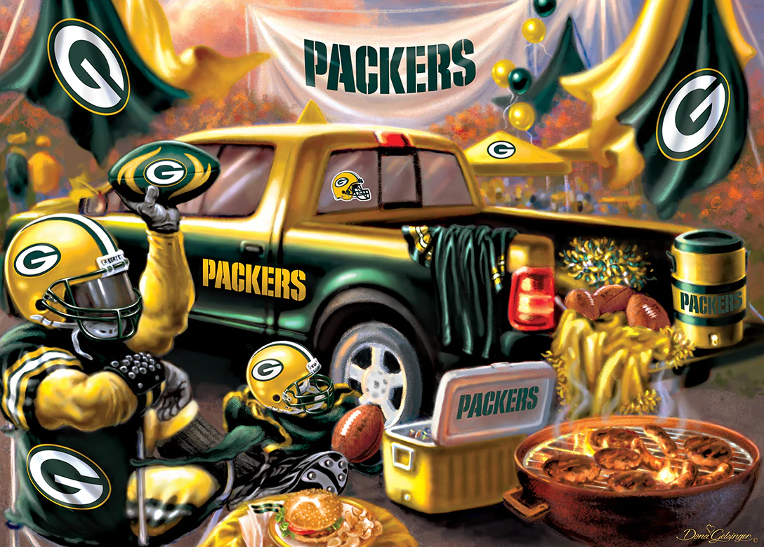 Green Bay Packers Gameday Football Jigsaw Puzzle