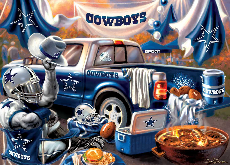 Dallas Cowboys Gameday Football Jigsaw Puzzle