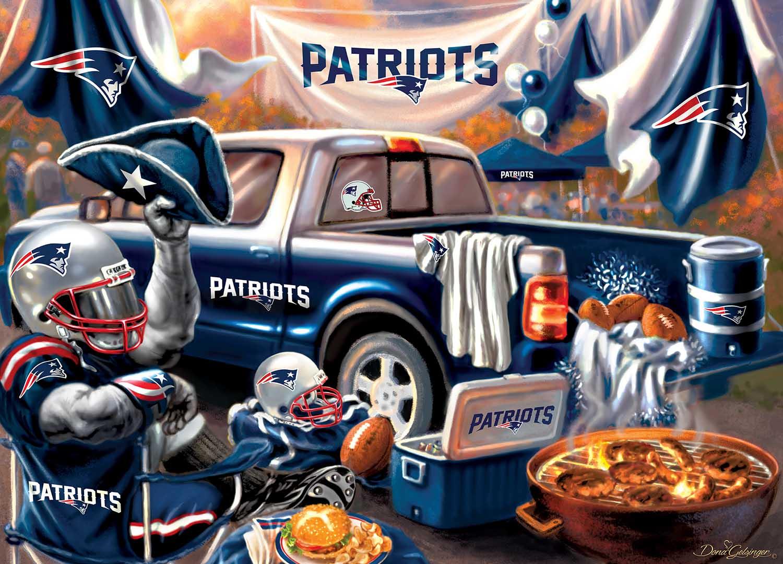 New England Patriots Gameday Football Jigsaw Puzzle