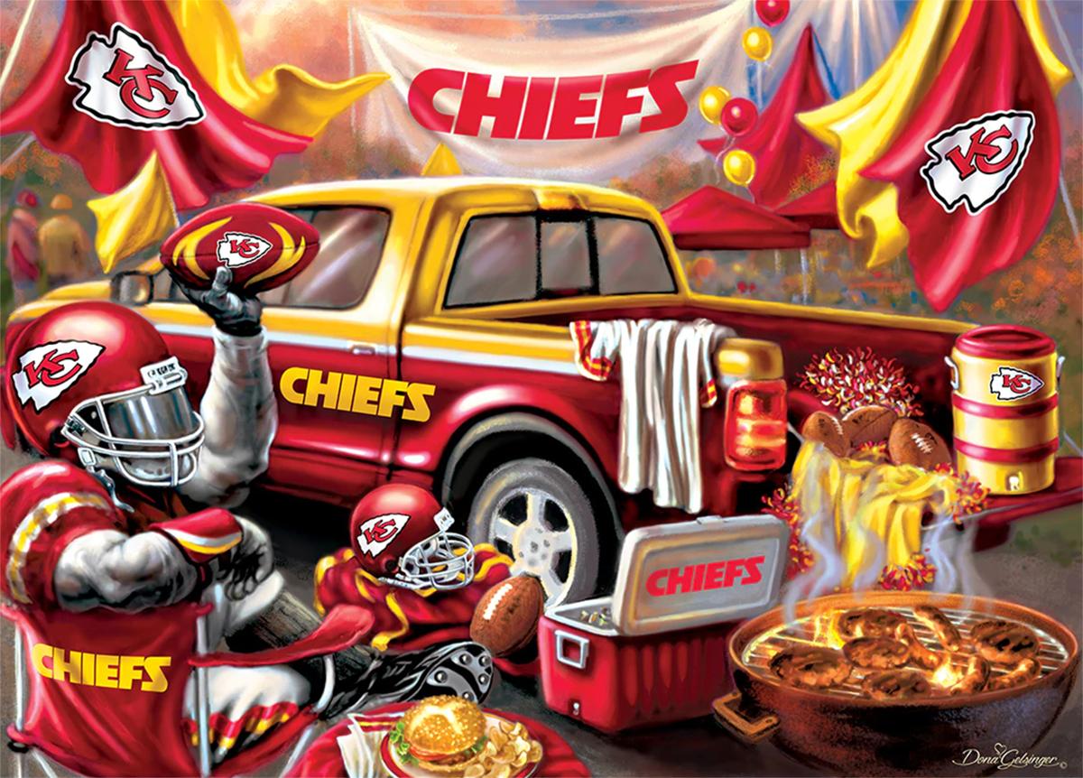 Kansas City Chiefs Gameday Football Jigsaw Puzzle