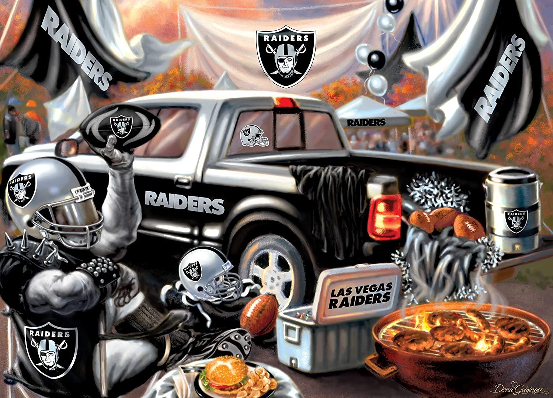 Las Vegas Raiders Gameday Football Jigsaw Puzzle