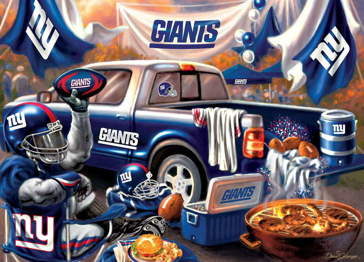 New York Giants Gameday Football Jigsaw Puzzle