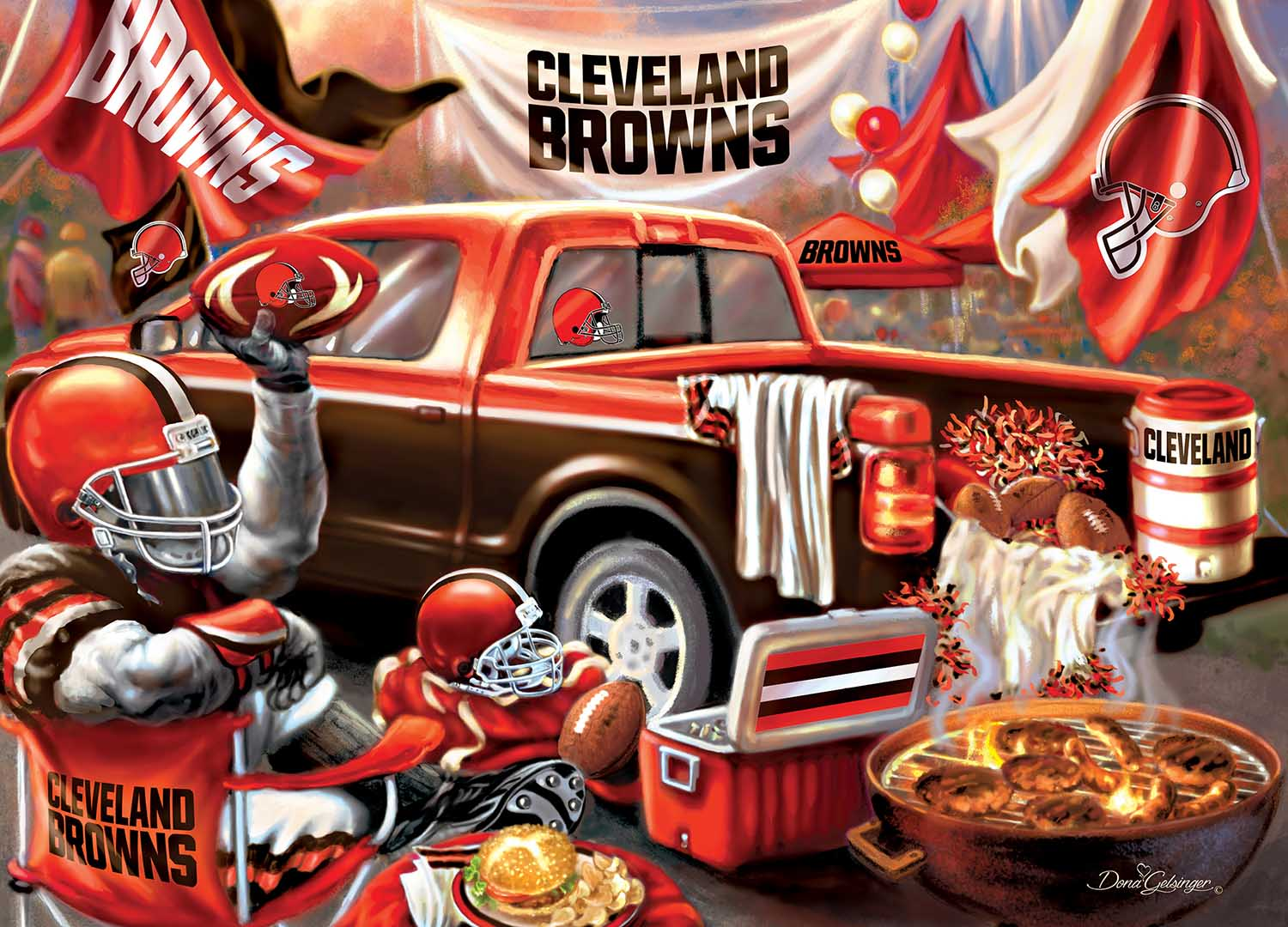 Cleveland Browns Gameday Football Jigsaw Puzzle