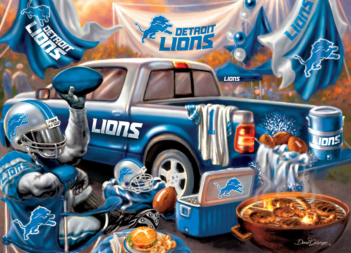 Detroit Lions Gameday Sports Jigsaw Puzzle
